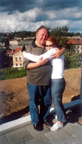 me and dad in lithuania