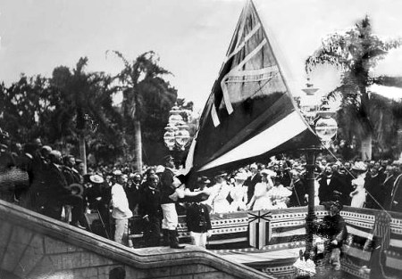 Annexation ceremony in 1898 in Honolulu.